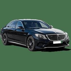 Transport dans le Val-d'Soise avec chauffeur privé dans une Mercedes Classe S